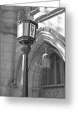 Two Lights And A Church Greeting Card