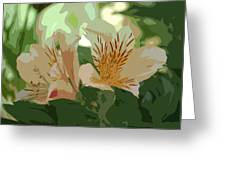 Two Lilies Cutout Greeting Card