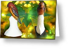 Two Lovely Birds Greeting Card