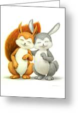 Two Lovely Friends Greeting Card