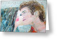 Two Lovers Kissing Greeting Card