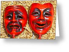 Two Masks Greeting Card