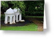 Two Meditating Cupolas In Fort Canning Park Singapore Greeting Card