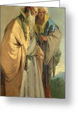 Two Men In Oriental Costume Greeting Card