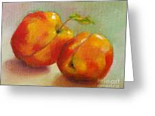 Two Peaches Greeting Card