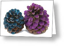 Two Pineapples Greeting Card