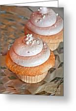 Two Pink Cupcakes Art Prints Greeting Card