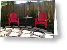 Two Red Chairs Greeting Card