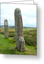 Two Ring Of Brodgar Stones Greeting Card