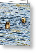 Two River Otters Greeting Card