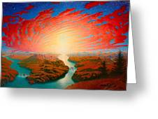 Two Rivers Greeting Card