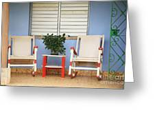 Two Rocking Chairs On The Porch Greeting Card
