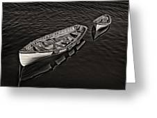 Two Row Boats Greeting Card