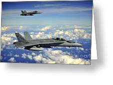 Two Royal Australian Air Force Fa-18 Greeting Card