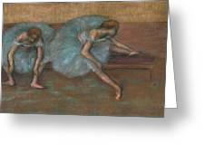 Two Seated Dancers Greeting Card