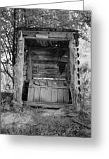 Two-seater Outhouse Greeting Card
