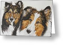 Two Shelties Greeting Card