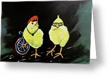 Two Smokin Hot Chicks Greeting Card