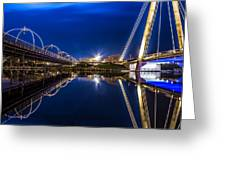 Two Southport Bridges Greeting Card