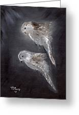 Two Spirits In The Night Greeting Card