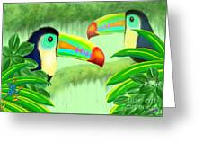 Two Toucans Greeting Card