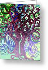 Two Trees Twining Greeting Card
