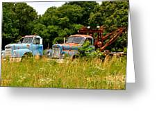 Route 66 Disney Truck Replicas Greeting Card