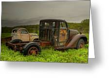 Two Trucks Greeting Card
