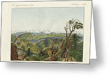 Two Views Of The Himalayas Greeting Card