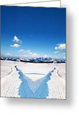 Two Ways Choice In Winter Greeting Card
