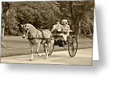 Two Wheel Cart Greeting Card by Wayne Sheeler