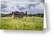 Two Window Barn Greeting Card