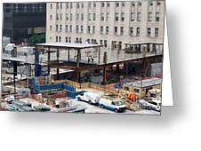 Two Wtc Under Construction Greeting Card