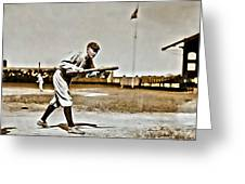 Ty Cobb Painting Greeting Card