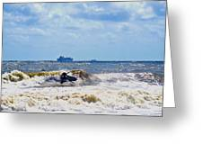 Tybee Island Kite Surfing Greeting Card