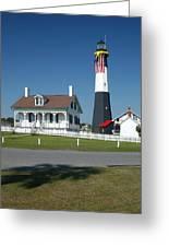 Tybee Island Lighthouse Ga Greeting Card