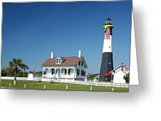 Tybee Island Lighthouse Georgia Greeting Card