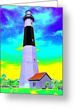 Tybee Island Lighthouse - Photopower Greeting Card