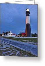 Tybee Island Night Light Greeting Card