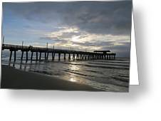 Tybee Island Pier Greeting Card