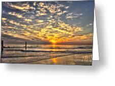 Calm Seas And A Tybee Island Sunrise Greeting Card