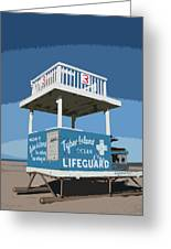 Tybee Third Street Lifeguard Stand Greeting Card