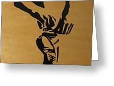 Tying Pointe In Black Greeting Card