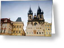 Tyn Church In Prague Greeting Card