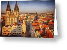 Tyn Church Old Town Square Greeting Card