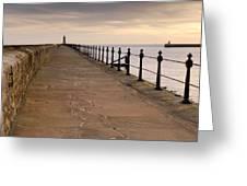 Tynemouth North Pier Greeting Card