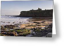 Tynemouth Priory And Castle Across King Edwards Bay Greeting Card
