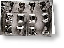 Type Greeting Card