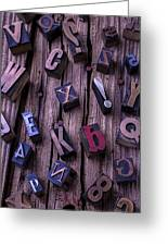 Typesetting Blocks Greeting Card