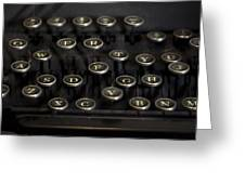 Typewriter Keys Greeting Card